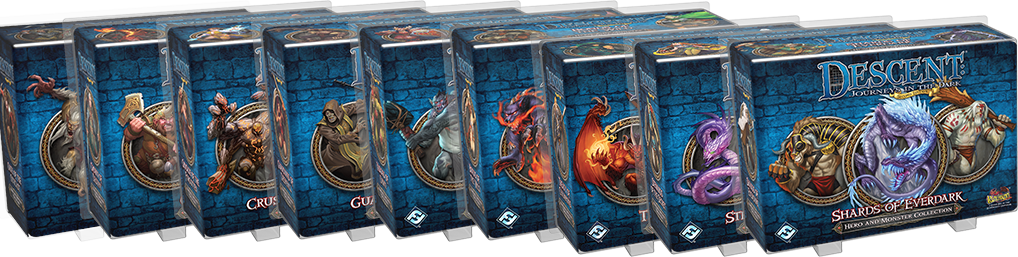 Heroes and Monsters mini-expansions for Descent